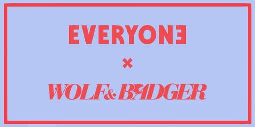 London Design Festival:  Everyone Agency x Wolf & Badger Private View