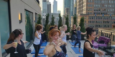 Lux Drunk Yoga®: Self Care Sundays at Marmara Hotel's ROOFTOP...Unlimited Mimosas and Brunch! tickets