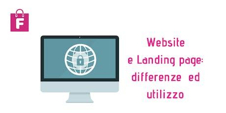 Website e Landing Page : differenze ed utilizzo - seminario biglietti