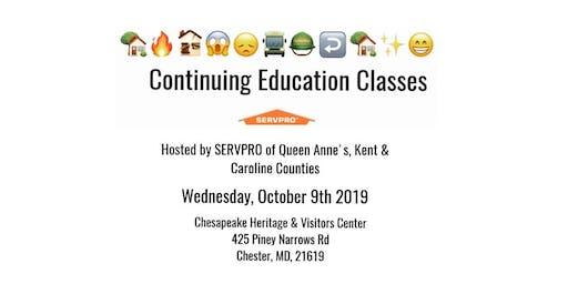 CE Classes- SERVPRO of Queen Anne's, Kent & Caroline Counties