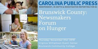 Newsmakers Forum on Hunger: Brunswick
