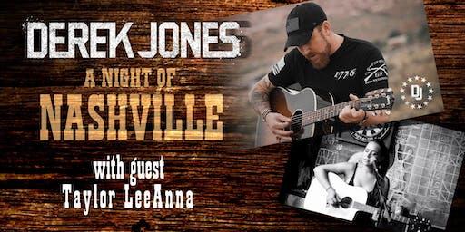 A Night of Nashville w/ Derek Jones and guest Taylor LeeAnna