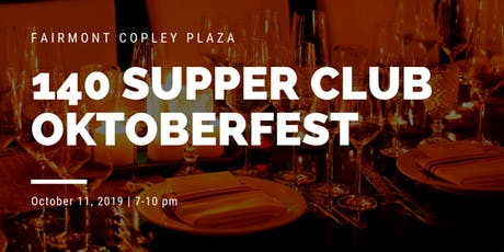 140 Supper Club Dinner: OKTOBERFEST tickets