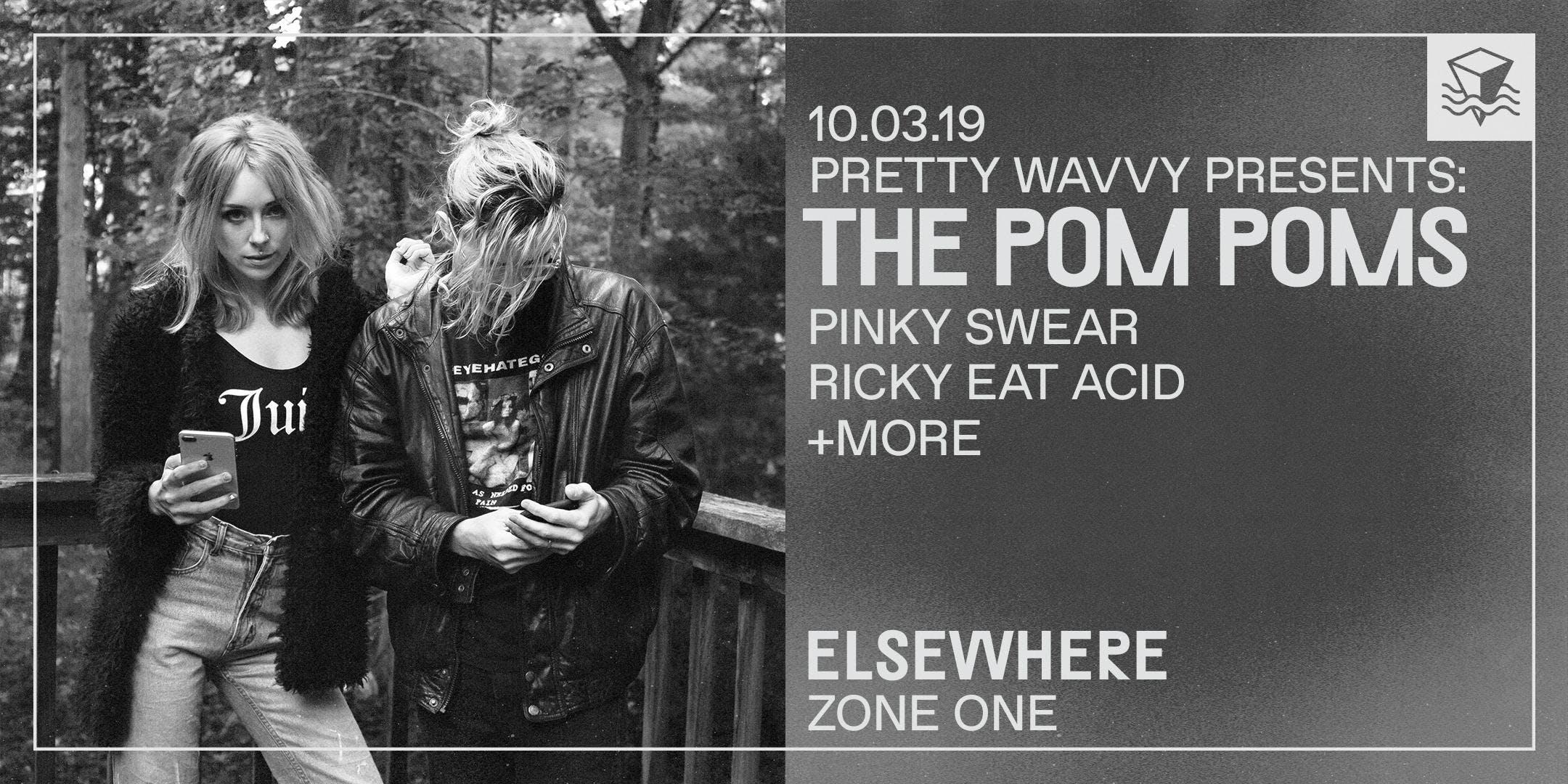 POSTPONED: Pretty Wavvy Presents: The Pom Poms, Pinky Swear, Ricky Eat Acid + more!