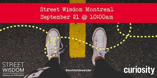 Street Wisdom MONTREAL: World Wide Wander 2019 (Sept 21)
