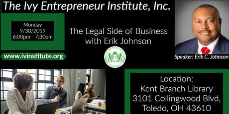 The Legal Side of Business with Erik Johnson tickets