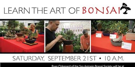 Learn the Art of Bonsai tickets