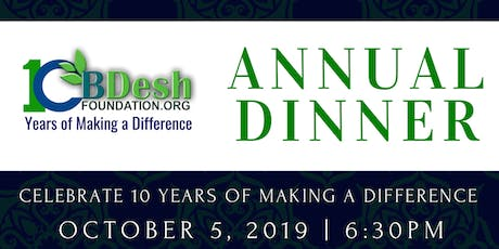 BDesh Foundation - 10th Anniversary Dinner tickets