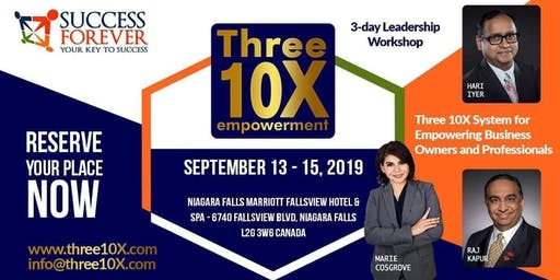 3 Day Live - Three 10X Empowerment Workshop