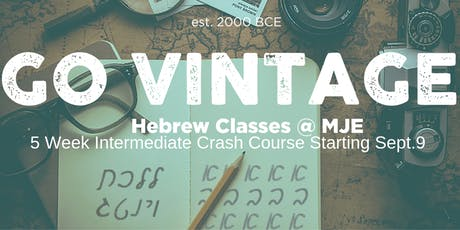 Hebrew Crash Course for 20s & 30s | MJE tickets