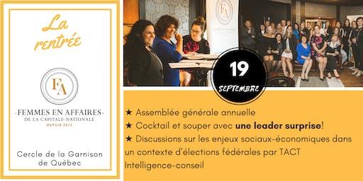 AGA et souper échange avec femmes leaders
