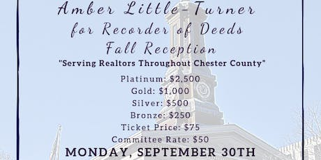 Amber Little-Turner for Recorder of Deeds Fall Reception tickets