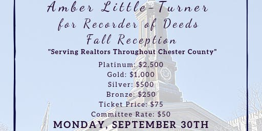 Amber Little-Turner for Recorder of Deeds Fall Reception