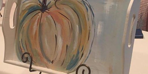 Autumn Decorative Tray Class
