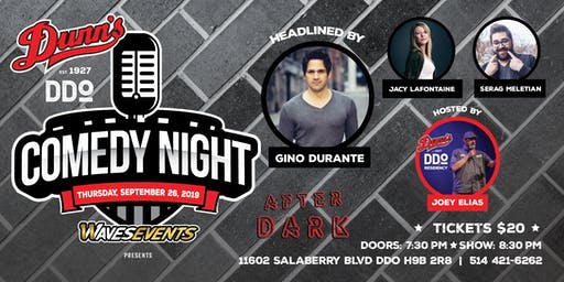 Comedy Night at Dunn's DDO Headlined by Gino Durante