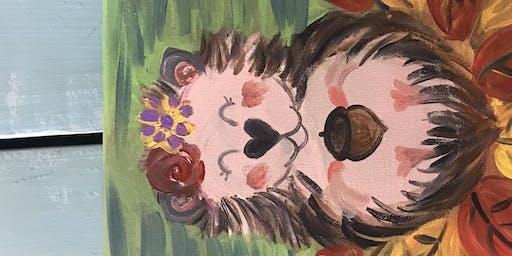 Family Fun Paint Night - Happy Hedgehog