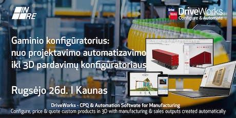 Nuo projektavimo automatizavimo iki pardavimų konfigūratoriaus tickets