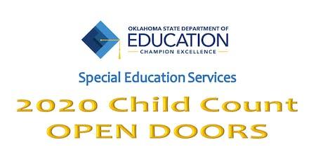 FY 2020 CHILD COUNT OPEN DOORS tickets