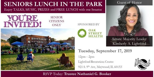 Seniors Lunch in the Park with Senator Kimberly A. Lightford