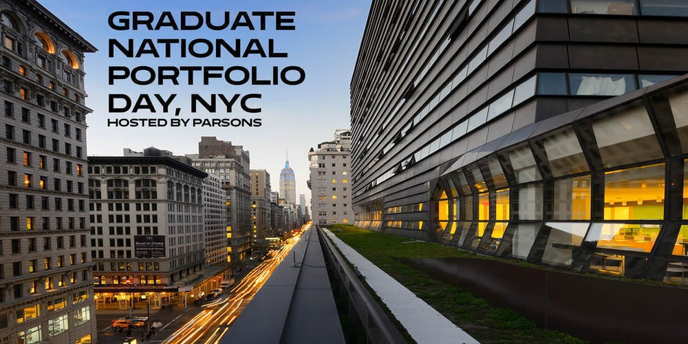 Graduate National Portfolio Day Hosted By Parsons Tickets