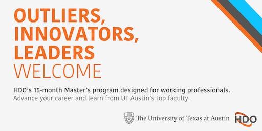 HDO at UT Austin: November 12 Info Session (San Antonio)