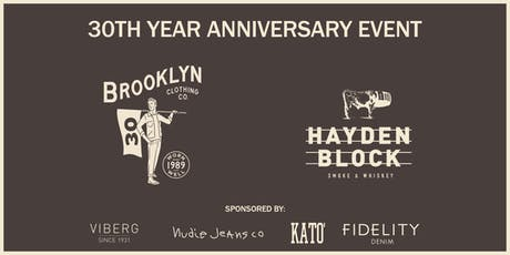 Brooklyn Clothing 30th Year Anniversary tickets