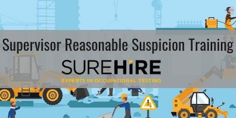 Supervisor Reasonable Suspicion Training - YYC tickets