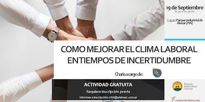 DESAYUNO SOBRE COMO MEJORAR EN CLIMA LABORAL EN TIEMPOS DE INCERTIDUMBRE