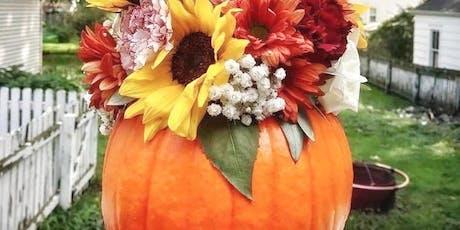 Fall Yoga & Pumpkin Bloom Workshop tickets