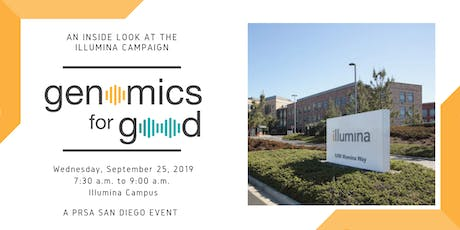 """An Inside Look into Illumina's """"Genomics for Good"""" Campaign tickets"""