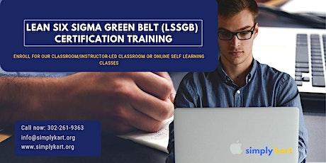 Lean Six Sigma Green Belt (LSSGB) Certification Training in  Saguenay, PE tickets