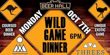 Wild Game Dinner tickets