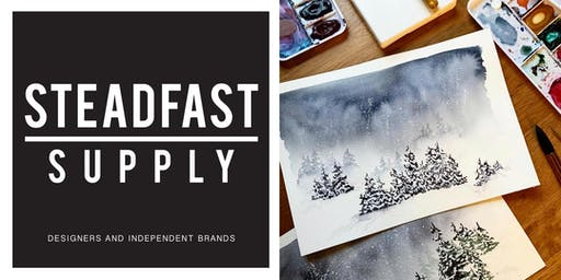 DIY Workshop | Painting a Winter Wonderland w. Watercolors, Hosted by Writing Desk Creatives