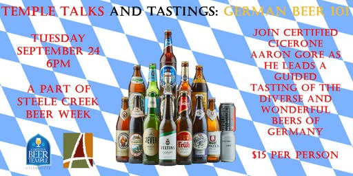 Temple Talks & Tastings: German Beer 101