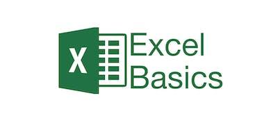 Excel Basics - Thursday, September 19th at 4pm