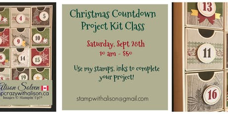 Christmas Countdown Project Kit Class tickets