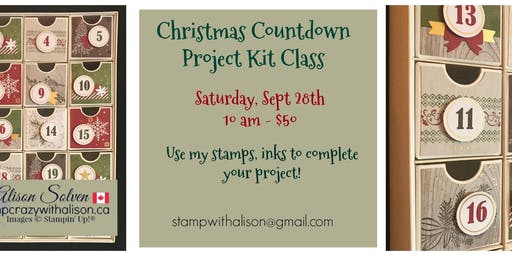 Christmas Countdown Project Kit Class