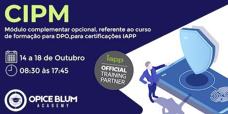 Formação para DPO com Módulo Complementar Opcional - CIPM tickets