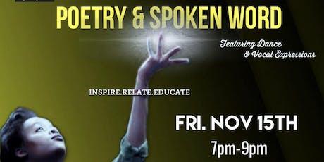 Poetry & Spoken Word (Nov 15th) tickets