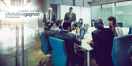 Analyse du non-verbal pour un leadership éclairé et une gouvernance stratégique! billets
