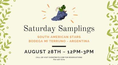 Saturday Samplings:South American Stars:Bodega Mi Terruno (Argentina) tickets