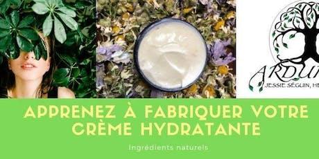 Fabrication de crème hydratante naturelle avec Arduinna Jessie Séguin, herboriste billets