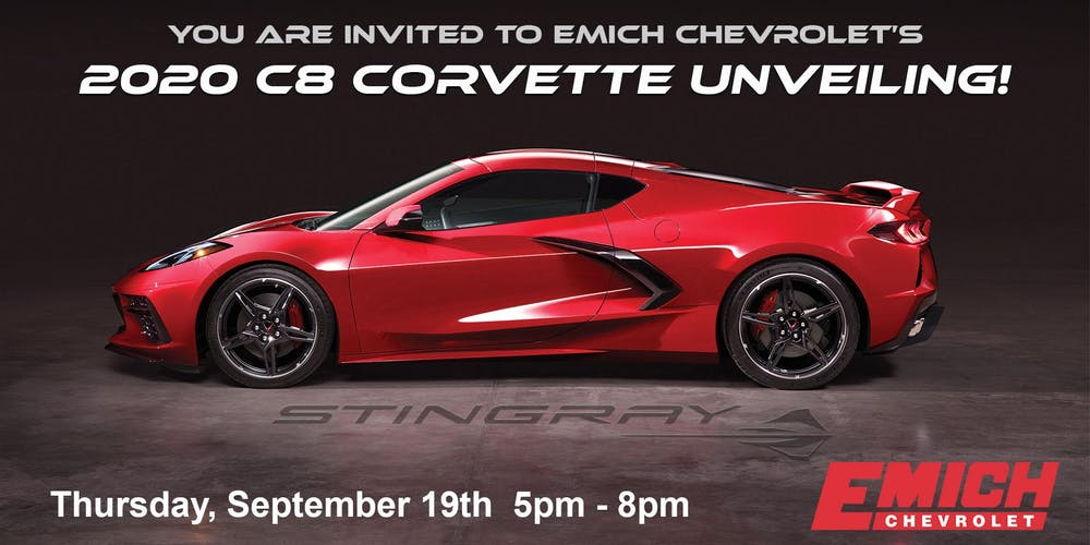 2020 C8 Corvette Unveiling Tickets, Thu, Sep 19, 2019 at 5