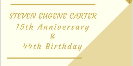 Pastor Carter's 15th Year Anniversary and 44th Birthday Celebration tickets