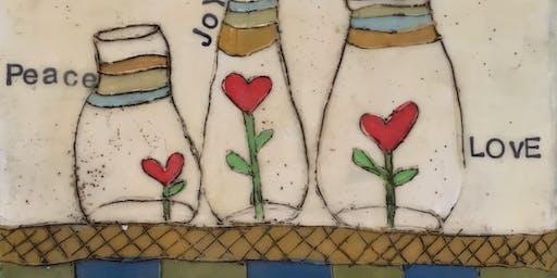 Encaustic Art Jar