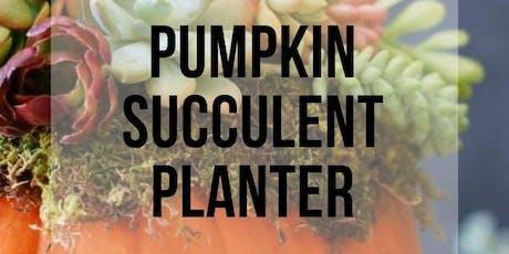 Succulent Pumpkin Planter tickets