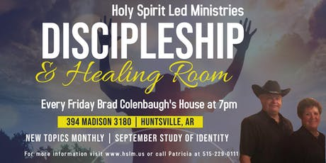 Discipleship & Healing Room | September Identity | Huntsville, AR tickets