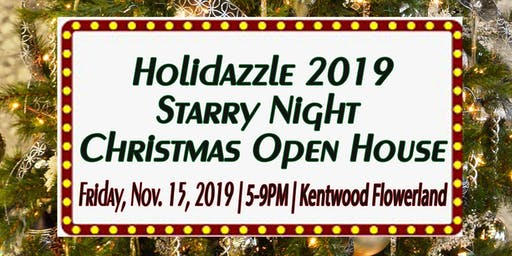 Holidazzle 2019 Starry Night Christmas Open House - Kentwood Flowerland