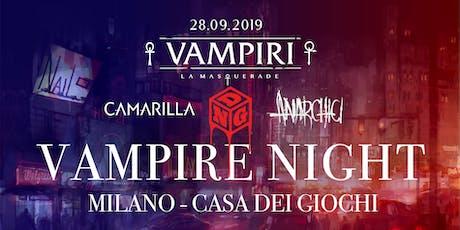 Vampire Night - Multitavolo di Vampiri: La Masquerade V5 + LIVE biglietti