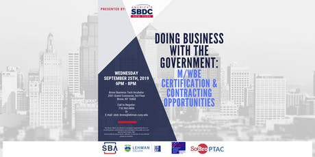 Doing Business with the Government: M/WBE Certifications & Contracting tickets